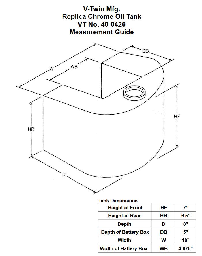 V-TWINレプリカスタイル ラップアラウンド サイズ表