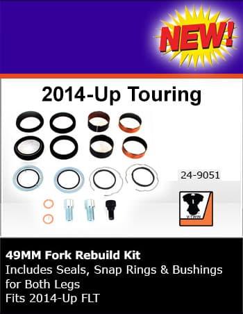 V-TWIN 49mmフォークリビルトキット 2014-2020 ツーリング V24-9051